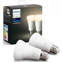 Product photograph showing Philips Hue Bt - White E27 - E27 Twin Pack Bulb