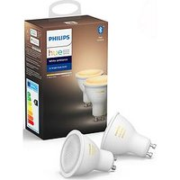 Product photograph showing Philips Hue Bt - White Ambiance Gu10 - Gu10 Twin Pack Bulb