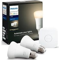 Product photograph showing Philips Hue Bt - White E27 Mini Starter Kit