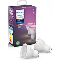 Product photograph showing Philips Hue Bt - White And Colour Ambiance Gu10 - Gu10 Twin Pack Bulb