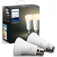 Product photograph showing Philips Hue Bt - White B22 - B22 Twin Pack Bulb