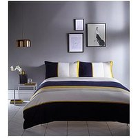 Product photograph showing Karen Millen Colour Block Duvet Cover Set