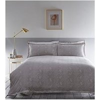 Product photograph showing Karen Millen Snakeskin Jacquard Duvet Cover