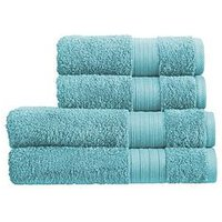 Product photograph showing Christy Monaco 4-piece Towel Bale Ndash Aqua