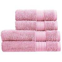 Product photograph showing Christy Monaco 4-piece Towel Bale Ndash Pink