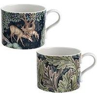 Product photograph showing Morris Co Set Of 2 Mugs Ndash Brook Amp Acanthus