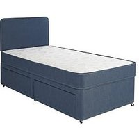 Product photograph showing Airsprung Storage Divan Set With Headboard And Mattress