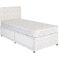 Product photograph showing Airsprung Butterfly Print Storage Divan Set