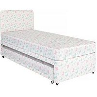 Product photograph showing Airsprung Butterfly Print Divan Set With Guest Bed