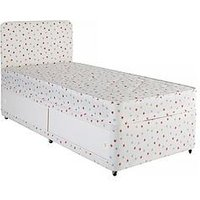 Product photograph showing Airsprung Kids Storage Divan And Headboard Set - Star Print