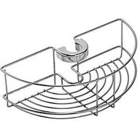 Product photograph showing Croydex Easy-fit Shower Riser Rail Basket