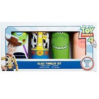 Product photograph showing Toy Story Toy Story Tumblers Set Of 4 - Buzz Woody Rex