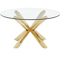 Product photograph showing Chopstick Glass And Brass Coffee Table