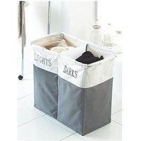 Lights/Darks Laundry Hamper