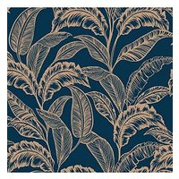 Product photograph showing Accessorize Mozambique Wallpaper Ndash Navy Gold