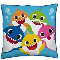 Product photograph showing Baby Shark Family Square Cushion