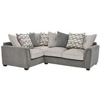 Product photograph showing Orson Fabric Left Hand Double Arm Corner Group Scatter Back Sofa