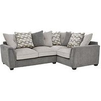 Product photograph showing Orson Fabric Right Hand Double Arm Corner Group Scatter Back Sofa