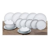 Product photograph showing Waterside 24-piece Silver Sparkle Dinner Set
