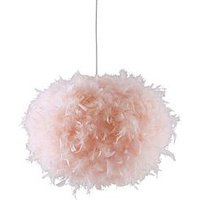 Product photograph showing Ellie Easy Fit Pendant Lightshade - Blush