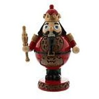 Product photograph showing Table Top Wooden Nutcracker Christmas Decoration