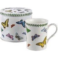 Product photograph showing Portmeirion Botanic Garden Harmony Butterfly Mug And Tin Set