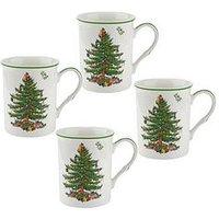 Product photograph showing Portmeirion Spode Christmas Tree Mugs Ndash Set Of 4