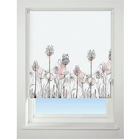 Product photograph showing Floral Border Blackout Roller Blind