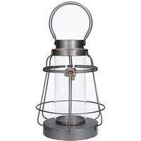Product photograph showing Gisela Graham Gisela Graham Brushed Metal Bell Lantern