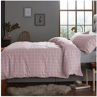 Product photograph showing Silentnight Contemporary Check Brushed Cotton Duvet Cover Set