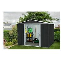 Product photograph showing Yardmaster 10 X 8 Feet Castleton Apex Roof Metal Shed