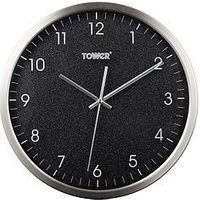 Product photograph showing Tower Glitz Black Wall Clock
