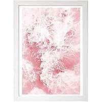 Product photograph showing East End Prints Pink Ocean By Sisi Amp Seb A3 Framed Wall Art
