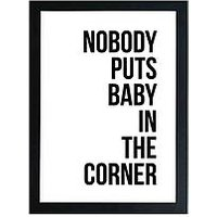 Product photograph showing East End Prints Baby In The Corner By Native State A3 Wall Art