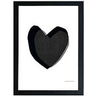 Product photograph showing East End Prints Black Heart By Seventy Tree A3 Wall Art