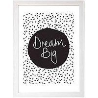 Product photograph showing East End Prints Dream Big By Native State A3 Wall Art