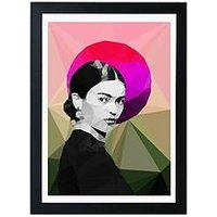 Product photograph showing East End Prints Frida Sunrise By Studio Cockatoo A3 Framed Wall Art