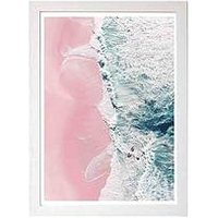 Product photograph showing East End Prints Sea Of Love Ii By Ingrid Beddoes A3 Framed Wall Art