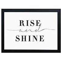Product photograph showing East End Prints Rise And Shine By Honeymoon Hotel A3 Wall Art
