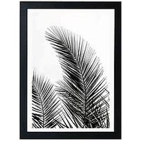 Product photograph showing East End Prints Palm Leaves By Mareike Boehmer A3 Framed Wall Art