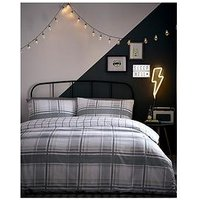 Product photograph showing Appletree Charlie Check Duvet Cover Set - Single