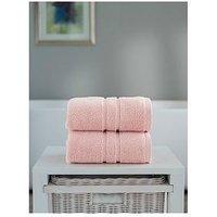 Product photograph showing The Lyndon Co Chelsea Super Soft 600 Gsm Zero Twist Bath Sheet - Pink