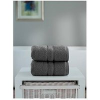 Product photograph showing The Lyndon Co Chelsea Super Soft 600 Gsm Zero Twist Hand Towel - Charcoal