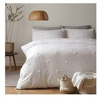 Product photograph showing Appletree Dot Garden Duvet Cover Set In White