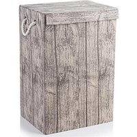 Minky Laundry Hamper With Bark Print