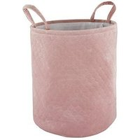 Pink Velvet Touch Laundry Basket