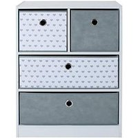 Product photograph showing Lloyd Pascal Cube 2 2 Storage Unit With Hearts