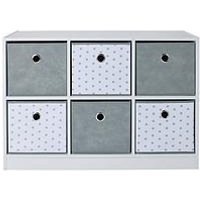 Product photograph showing Lloyd Pascal 6 Cube Storage Unit With Stars