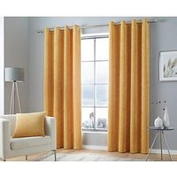 Product photograph showing Curtina Kilbride Cord Lined Eyelet Curtains