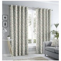 Product photograph showing Fusion Aura Lined Eyelet Curtains